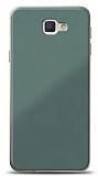 Eiroo Glass Samsung Galaxy J7 Prime / J7 Prime 2 Silikon Kenarlı Cam Yeşil Kılıf