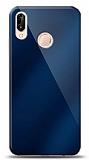 Eiroo Huawei P20 Lite Silikon Kenarlı Aynalı Lacivert Kılıf
