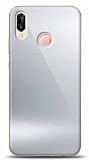 Eiroo Huawei P20 Lite Silikon Kenarlı Aynalı Silver Kılıf