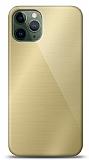 Eiroo iPhone 11 Pro Silikon Kenarlı Aynalı Gold Kılıf