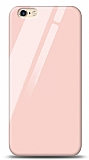 Eiroo iPhone 6 Plus / 6S Plus Silikon Kenarlı Pembe Cam Kılıf
