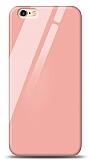 Eiroo iPhone 6 Plus / 6S Plus Silikon Kenarlı Turuncu Cam Kılıf