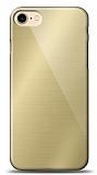 Eiroo iPhone 7 / 8 Silikon Kenarlı Aynalı Gold Kılıf