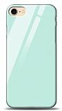 Eiroo iPhone 7 / 8 Silikon Kenarlı Mavi Cam Kılıf