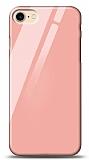 Eiroo iPhone 7 / 8 Silikon Kenarlı Turuncu Cam Kılıf