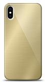 Eiroo iPhone X / XS Silikon Kenarlı Aynalı Gold Kılıf