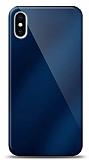 Eiroo iPhone X / XS Silikon Kenarlı Aynalı Lacivert Kılıf
