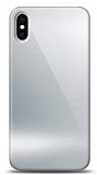 Eiroo iPhone X / XS Silikon Kenarlı Aynalı Silver Kılıf