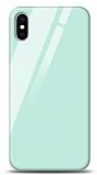 Eiroo iPhone XS Max Silikon Kenarlı Mavi Cam Kılıf