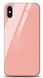 Eiroo iPhone XS Max Silikon Kenarlı Turuncu Cam Kılıf