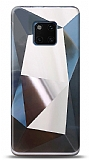 Eiroo Prizma Huawei Mate 20 Pro Silver Rubber Kılıf