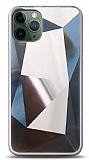 Eiroo Prizma iPhone 11 Pro Silver Rubber Kılıf