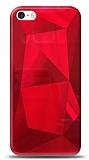 Eiroo Prizma iPhone SE / 5 / 5S Kırmızı Rubber Kılıf