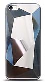 Eiroo Prizma iPhone SE / 5 / 5S Silver Rubber Kılıf