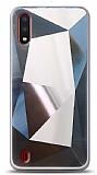Eiroo Prizma Samsung Galaxy A01 Silver Rubber Kılıf