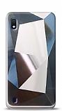 Eiroo Prizma Samsung Galaxy A10 Silver Rubber Kılıf
