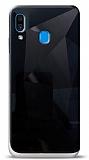 Eiroo Prizma Samsung Galaxy A30 Siyah Rubber Kılıf