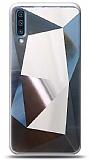 Eiroo Prizma Samsung Galaxy A70 Silver Rubber Kılıf