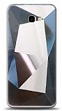 Eiroo Prizma Samsung Galaxy J4 Plus Silver Rubber Kılıf