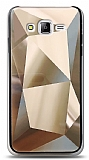 Eiroo Prizma Samsung Galaxy J7 / Galaxy J7 Core Gold Rubber Kılıf