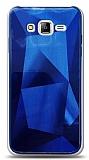 Eiroo Prizma Samsung Galaxy J7 / Galaxy J7 Core Mavi Rubber Kılıf