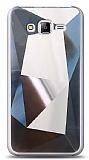 Eiroo Prizma Samsung Galaxy J7 / Galaxy J7 Core Silver Rubber Kılıf