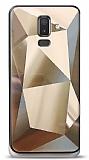 Eiroo Prizma Samsung Galaxy J8 Gold Rubber Kılıf