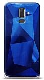 Eiroo Prizma Samsung Galaxy J8 Mavi Rubber Kılıf