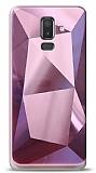 Eiroo Prizma Samsung Galaxy J8 Pembe Rubber Kılıf