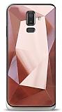 Eiroo Prizma Samsung Galaxy J8 Rose Gold Rubber Kılıf