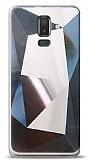 Eiroo Prizma Samsung Galaxy J8 Silver Rubber Kılıf