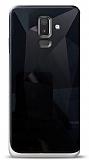 Eiroo Prizma Samsung Galaxy J8 Siyah Rubber Kılıf