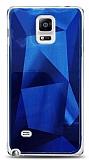 Eiroo Prizma Samsung Galaxy Note 4 Mavi Rubber Kılıf