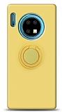 Eiroo Ring Color Huawei Mate 30 Yüzük Tutuculu Sarı Silikon Kılıf