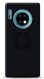 Eiroo Ring Color Huawei Mate 30 Yüzük Tutuculu Siyah Silikon Kılıf