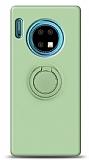 Eiroo Ring Color Huawei Mate 30 Yüzük Tutuculu Yeşil Silikon Kılıf