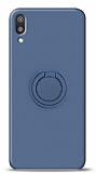 Eiroo Ring Color Huawei Y5 2019 Yüzük Tutuculu Lacivert Silikon Kılıf