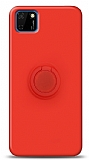 Eiroo Ring Color Huawei Y5p Yüzük Tutuculu Kırmızı Silikon Kılıf
