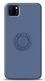 Eiroo Ring Color Huawei Y5p Yüzük Tutuculu Lacivert Silikon Kılıf