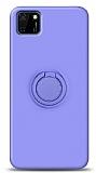 Eiroo Ring Color Huawei Y5p Yüzük Tutuculu Mor Silikon Kılıf