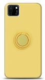Eiroo Ring Color Huawei Y5p Yüzük Tutuculu Sarı Silikon Kılıf