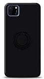 Eiroo Ring Color Huawei Y5p Yüzük Tutuculu Siyah Silikon Kılıf