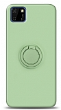 Eiroo Ring Color Huawei Y5p Yüzük Tutuculu Yeşil Silikon Kılıf