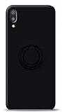 Eiroo Ring Color Huawei Y6 2019 Yüzük Tutuculu Siyah Silikon Kılıf