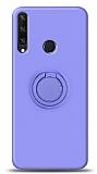 Eiroo Ring Color Huawei Y6p Yüzük Tutuculu Mor Silikon Kılıf