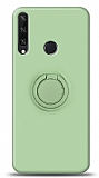 Eiroo Ring Color Huawei Y6p Yüzük Tutuculu Yeşil Silikon Kılıf