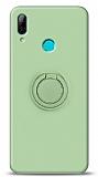 Eiroo Ring Color Huawei Y7 2019 Yüzük Tutuculu Yeşil Silikon Kılıf