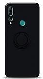 Eiroo Ring Color Huawei Y9 Prime 2019 / P Smart Z Yüzük Tutuculu Siyah Silikon Kılıf