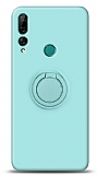 Eiroo Ring Color Huawei Y9 Prime 2019 / P Smart Z Yüzük Tutuculu Turkuaz Silikon Kılıf
