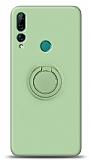 Eiroo Ring Color Huawei Y9 Prime 2019 / P Smart Z Yüzük Tutuculu Yeşil Silikon Kılıf